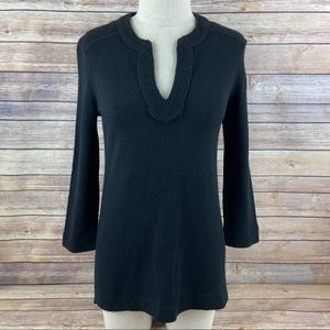 Tory Burch Lizzie Cashmere V Neck Tunic Sweater